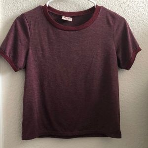 Two toned maroon T-shirt
